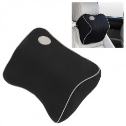 Universal Car Seat Headrest Pad Cushion Head Neck Pillow - Black