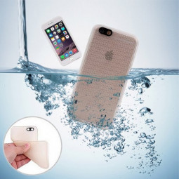 TPU Waterproof Protective Phone Case Cover for iPhone 6S Plus - Grey