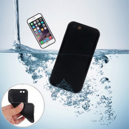 TPU Waterproof Protective Phone Case Cover for iPhone 6S - Black