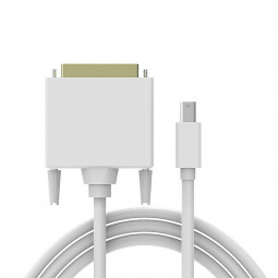 1080P Mini DisplayPort DP to DVI Cable Adapter for MacBook - White