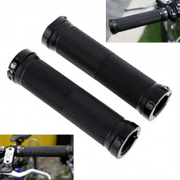 2Pcs Lock-on Bicycle MTB Comfort Handle Bike Handlebar Cycling Grips - Black