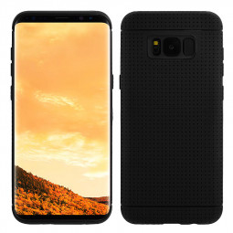 Honeycomb Dot Phone Protector Cover Soft TPU Case for Samsung Galaxy S8 Plus - Black