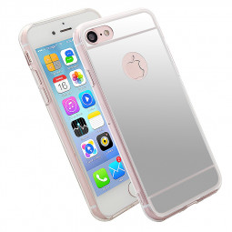 Mirror Soft TPU Cover Back Phone Case for iPhone 6 6S Plus 5.5 inch - Silver