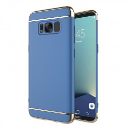 Samsung Galaxy S8 Plus Case 3 in 1 Hard PC Shell Electroplate Cover - Blue
