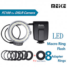 FC-100 LED Macro Ring Flash Light for Canon Nikon Olympus DSLR Camera