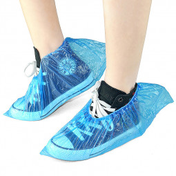 50 Pair Disposable Blue Shoe Covers Overshoes Carpet