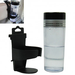 Adjustable Hanger Car Cup Bottle Drinks Holder Hang On Car Back Seat - Black