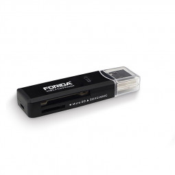 Multifunctional 2 in 1 USB 3.0 SD TF Memory Card Reader Memorizer - Black