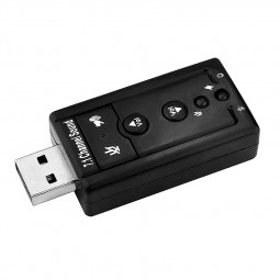 Mini 7.1 CH Channel USB 2.0 Sound Card Mic Speaker Adapter for Desktop Notebook
