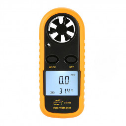 Digital Hand-held Wind Speed Gauge Meter GM816 30m/s (65MPH) Scale Anemometer Thermometer