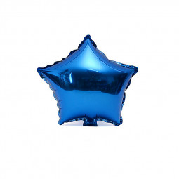 18inch Plain Coloured Star Foil Balloons Party Wedding Home Decor - Blue