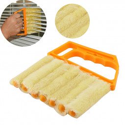 7 Slat Window Blind Cleaner Brush Duster Blinds Easy Cleaning Tool