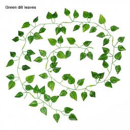 12pcs Artificial Ivy Leaf Garland Plants Fake Foliage Flowers for Home Decoration - Scindapsus Aureus