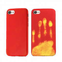 Soft TPU Thermal Induction Discoloration Back Case Cover for iPhone 7/8 - Red