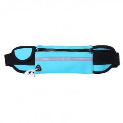 Sports Outdoors Unisex Waist Belt Bag Running Travel Waterproof Pouch Keys Money Mobile Bag - Blue