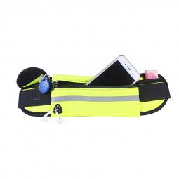 Sports Outdoors Unisex Waist Belt Bag Running Travel Waterproof Pouch Keys Money Mobile Bag - Green