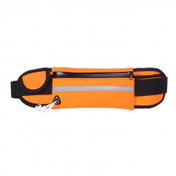 Sports Outdoors Unisex Waist Belt Bag Running Travel Waterproof Pouch Keys Money Mobile Bag - Orange