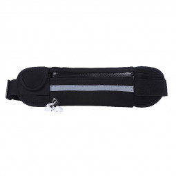 Sports Outdoors Unisex Waist Belt Bag Running Travel Waterproof Pouch Keys Money Mobile Bag - Black