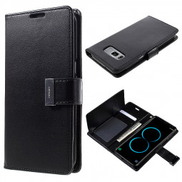 Samsung Case Wallet Slot Card Leather Phone Case Rich Diary Flip Cover for Galaxy S8 - Black