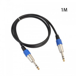 1M Premium Stereo 6.35mm Male to Male Audio Cable Gold Plated Electric Guita Cord