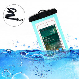 6inch Universal Waterproof Phone Case Dry Pouch Underwater Mobile Cases Bag Cover - Blue