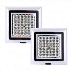 2pcs 12V 42 LED White Light Car Van Vehicle Roof Ceiling Interior Light Lamp