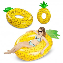 180cm Water Float Raft Beach Pineapple Swim Toy Inflatable Swim Ring for Swimming Pool