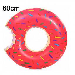 60cm BigMouth Inflatable Gigantic Donut Swimming Pool Ring Float Swim Ring - Pink