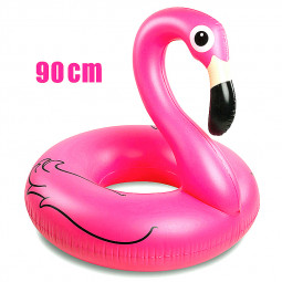 90cm Giant Inflatable Flamingo Swim Ring Swimming Pool Float Toys for Adults