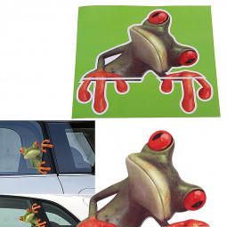 3D Car Stickers Funny Frog Truck Window Decal Vivid Car Decor Sticker