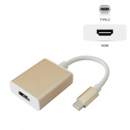 USB 3.1 Type-C to HDMI Adapter Converter USB-C to HDMI HDTV Video Adapter Cable for Macbook - Golden