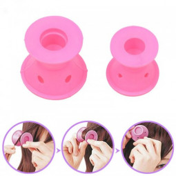 10pcs Women Beauty Hair Maker Curlers Roller Silicone Hair Cosmetic DIY Set