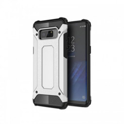 For Samsung Galaxy Note 8 Rugged Armor TPU + PC Hybrid Case - White