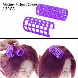 12pcs Women Beauty Hair Setting Curler Hair Clamp Rollers Hairdressing Tool Set - Size 22mm