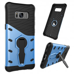 360 Rotating Stand Dual Shockproof Tough Cases Cover for Samsung Galaxy S8 - Blue