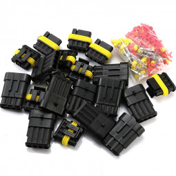 10pcs 4 Pin Way Super Seal Waterproof Electrical Wire Connector Plug for Car