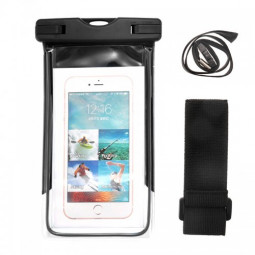 Waterproof Underwater Dry Pouch Bag Case Cover for iPhone 6 Samsung - Black