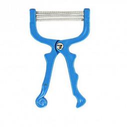 Facial Hair Remover Tool Face Beauty 3 Spring Threading Removal Epilator Beauty Tool - Blue