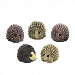 Miniature Hedgehogs Fairy Ornament Home Garden Craft Decor