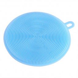 Multipurpose Kitchen Silicone Smart Sponge Brush Cleaning Dish Tool Kitchen Gadgets - Blue