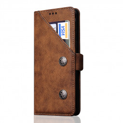 Samsung Galaxy Note 8 Wallet Stand Case PU Leather Card Slot Phone Cover - Brown