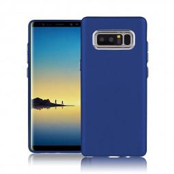 Pure Colour Soft TPU Matte Back Case for Samsung Galaxy Note 8 - Blue
