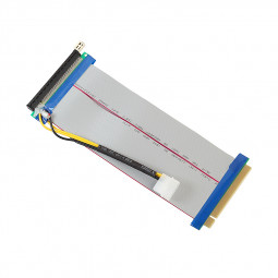 Powered PCI-E Extension Cable 16X To 16X Riser Extender Card with Molex LTC DOGE