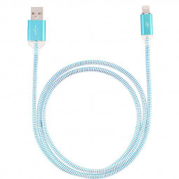 1M LED Light Up 8pin Charger Data Sync Charge Cable for iPhone 6 6S 7 7 Plus 8 8 Plus X - Blue