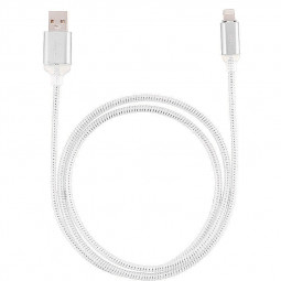 1M LED Light Up 8pin Charger Data Sync Charge Cable for iPhone 6 6S 7 7 Plus 8 8 Plus X - Silver
