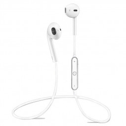 Sports Headphones Bluetooth 4.1 Earbuds with Mic Sport Stereo Headset Earphones - White