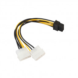8-Pin PCI- E to Dual 4Pin Molex Power Supply Extension Cable