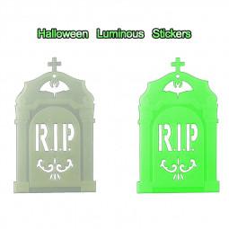 Halloween Luminous Night Glow Wall Sticker for Halloween Decoration - Tombstone