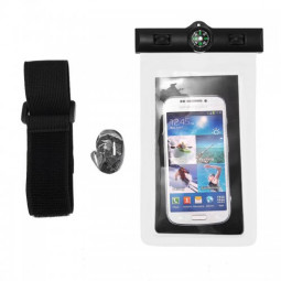 6 inch Universal Waterproof Case Pouch Bag for Phones Camera - White