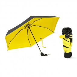 Mini Windproof Sunscreen Foldable Travel Sun Rain Pocket Umbrella for Men Women - Yellow